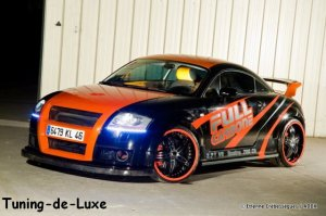 Audi TT Black and Orange