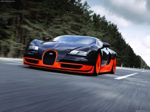 Bugatti Veyron Super Sport 2011 black orange