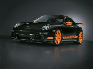 porsche 911 gt3 rs black and orange
