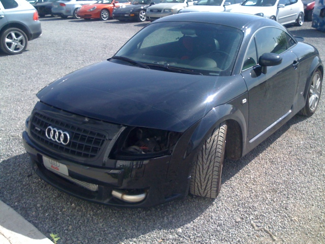 My Audi TT with no headlights at all