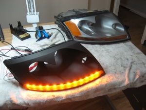 LED DRL Audi TT - orange blinkers