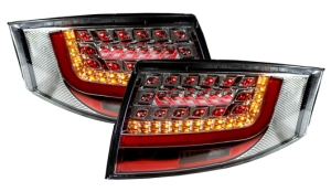 Audi TT 8N LED Rear Tail Lights CHROME Rearlights lit