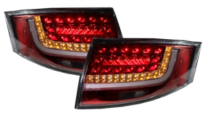 Audi TT 8N LED Rear Tail Lights RED Rearlights lit