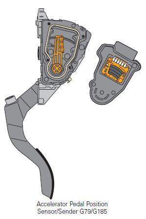 Accelerator Pedal Position Sensor Sender G79 G185