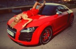 audi-tt-mk2-8j-sexy-blonde-red-dress