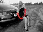 audi-tt-mk2-8j-sexy-woman-nice-dress