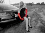 audi-tt-mk2-8j-sexy-woman-nice-dress