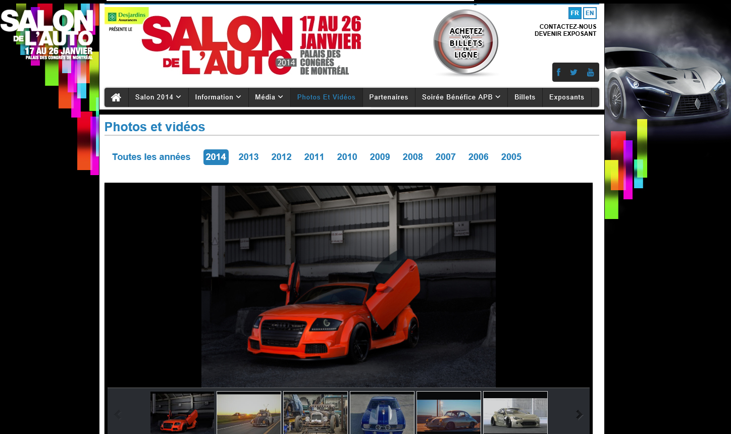 salon de l auto de montr al audi tt mk1 8n tuning parts accessories. Black Bedroom Furniture Sets. Home Design Ideas