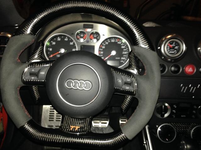 Steering Wheel Swap On My Audi Tt    Flat Bottom Mk2 Fitted