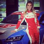 Doreen-Seidel-blonde-audi-race-driver-does-duckface-kiss-with-playboy-bunny-lol_11