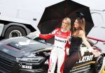 Doreen-Seidel-blonde-audi-race-driver-does-duckface-kiss-with-playboy-bunny-lol_4