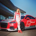 Doreen-Seidel-blonde-audi-race-driver-does-duckface-kiss-with-playboy-bunny-lol_6
